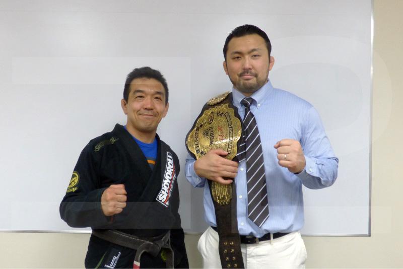 中井祐樹氏と鈴木秀樹選手
