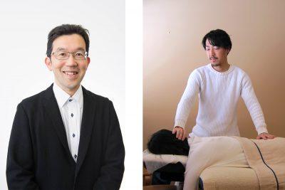 山口創先生(左)、有本匡男氏(右)