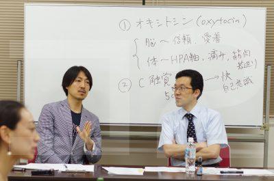山口先生(右)、有本さん(左)